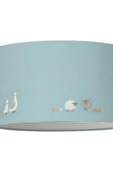 Mamas & Papas Blue Welcome To The World Farm Lampshade
