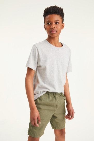Grey Marl Short Sleeve Crew Neck T-Shirt (3-16yrs)