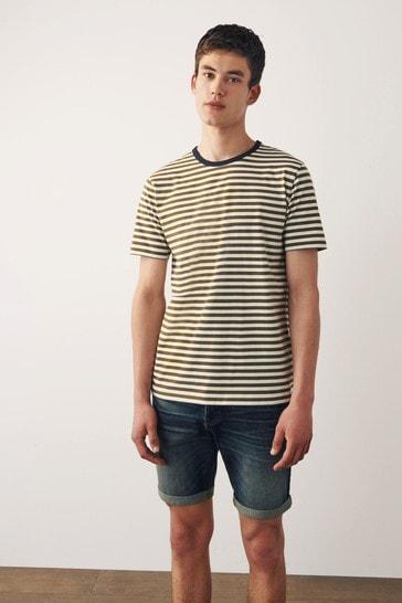 White/Green Stripe T-Shirt