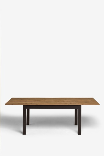 Bronx Oak Effect 6 to 10 Seater Double Extending Dining Table