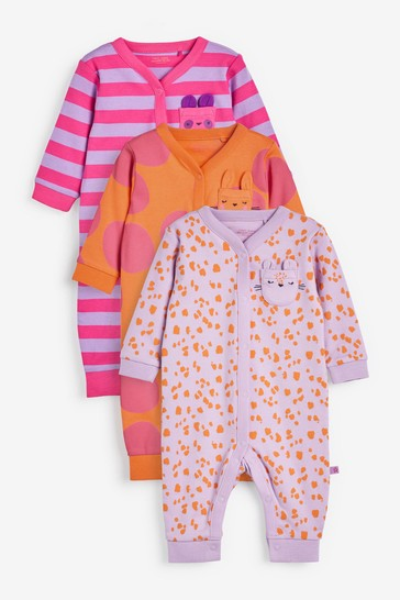 Bright Abstract 3 Pack Character Footless Sleepsuits (0mths-3yrs)