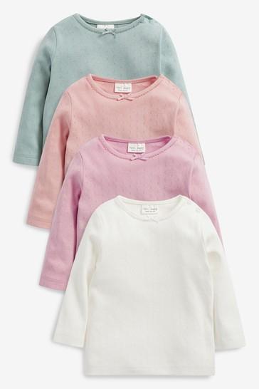 Multi 4 Pack Jersey T-Shirts (0mths-2yrs)