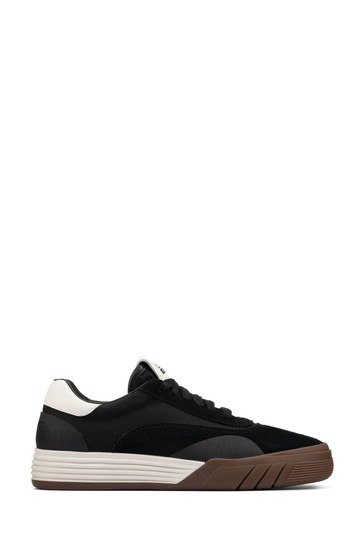 Clarks Black Combi Suede Cica Skater Trainers