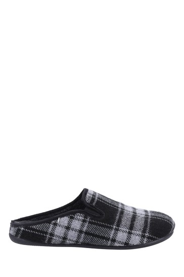 Cotswold Black Syde Slippers