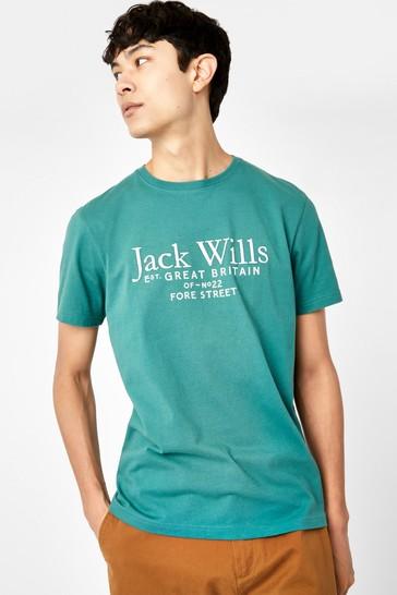 Jack Wills Teal JW Carnaby Logo T-Shirt