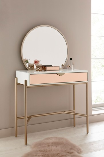 Lacey Dressing Table With Mirror