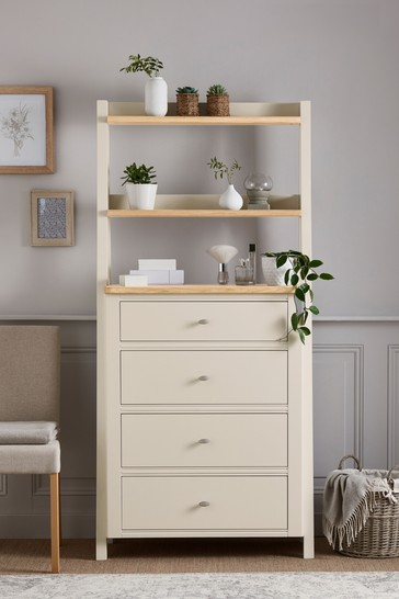 Hampton Country Luxe Painted Oak Ladder Chest