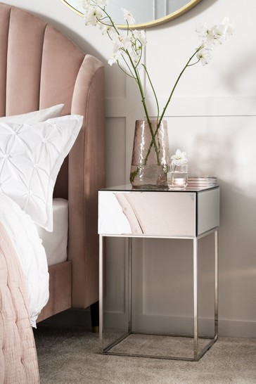 Sloane Mirrored 1 Drawer Bedside Table