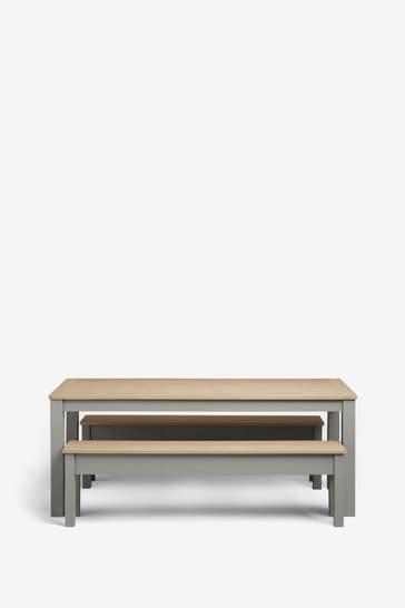 Malvern Dove Grey 6 Seater Bench Set
