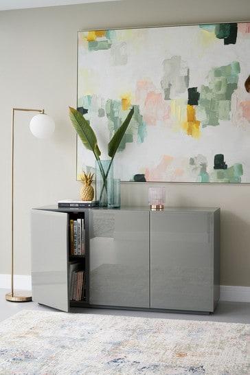 Sloane Grey Glass Large Sideboard