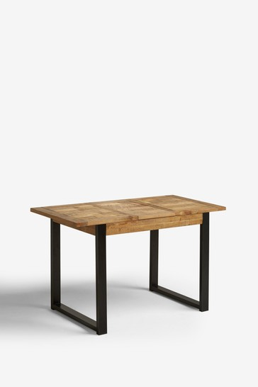 Jefferson Rustic 2 to 4 Extending Dining Table