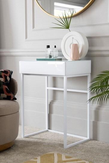 Sloane White Compact Dressing Table