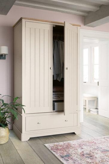 Hampton Country Luxe Painted Oak Double Wardrobe