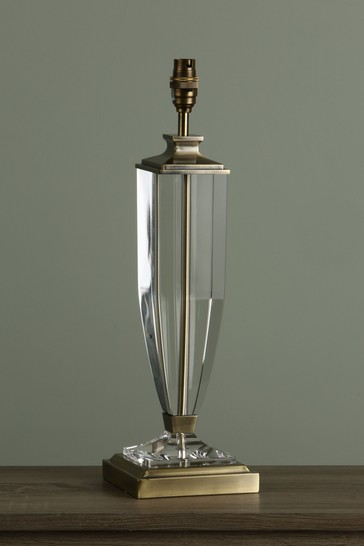 Antique Brass Carson Crystal Large Table Lamp Base