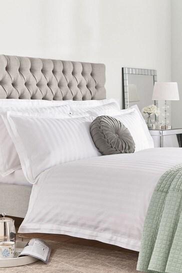 White Shalford Duvet Cover And Pillowcase Set