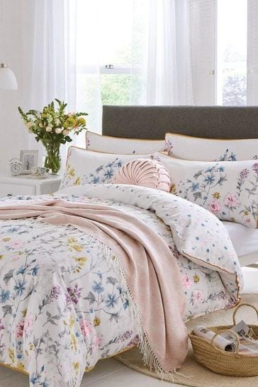 White Wild Meadow Duvet Cover And Pillowcase Set