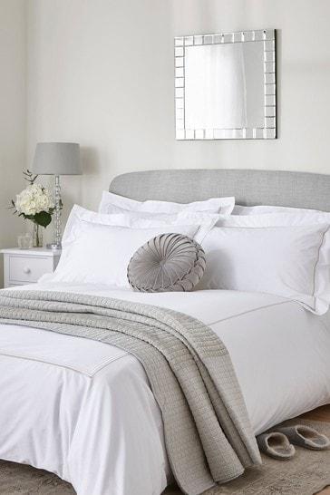 Dove Grey Mayfair Duvet Cover And Pillowcase Set