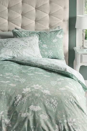Sage Parterre Duvet Cover And Pillowcase Set