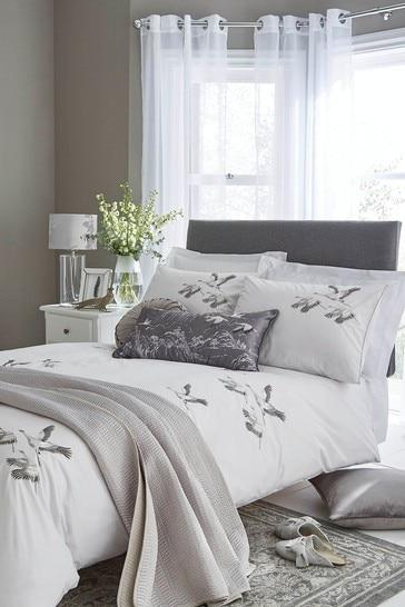 Silver Animalia Duvet Cover and Pillowcase Set