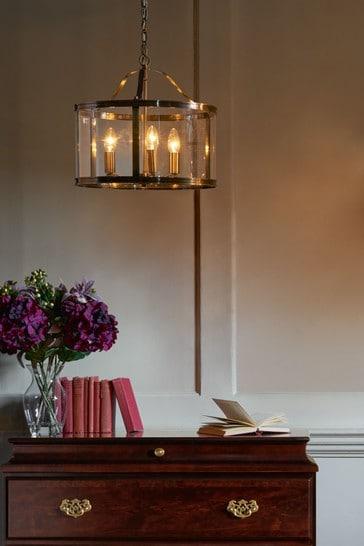 Brass Harrington 3 Light Lantern Ceiling Light