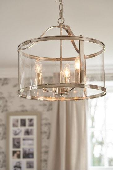 Chrome Harrington 3 Light Lantern Ceiling Light