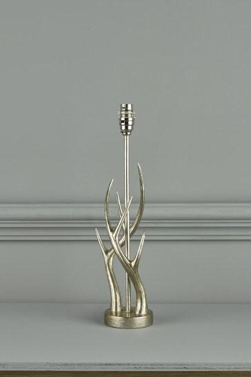 Silver Mulroy Champagne Antler Table Lamp Base