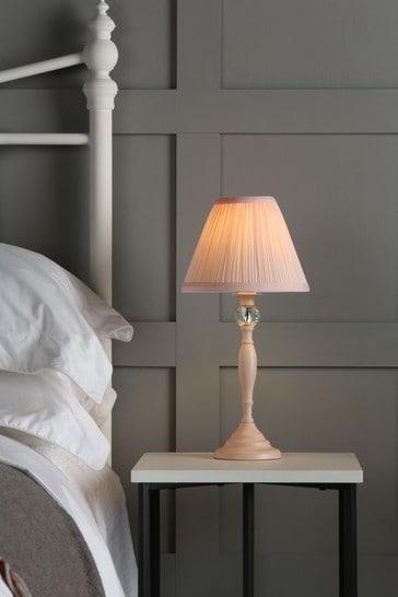 Pink Ellis Satin Painted Spindle Table Lamp