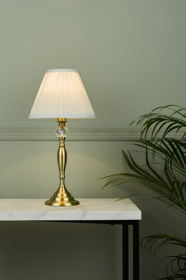 Brass Ellis Satin Painted Spindle Table Lamp