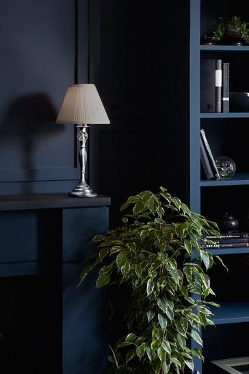 Chrome Ellis Satin Painted Spindle Table Lamp