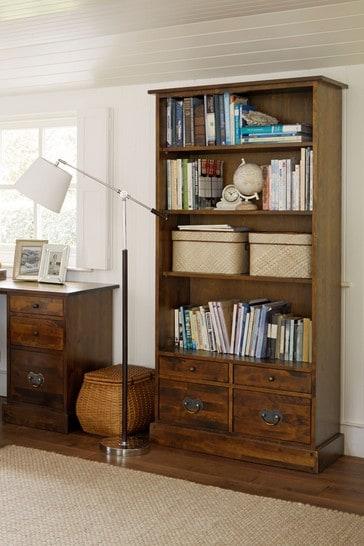 Garrat Dark Chestnut 4 Drawer Single Bookcase