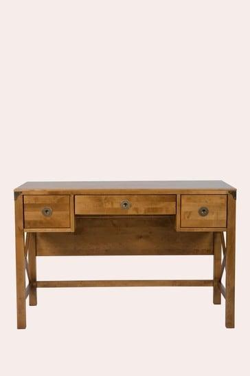 Balmoral Honey 3 Drawer Desk