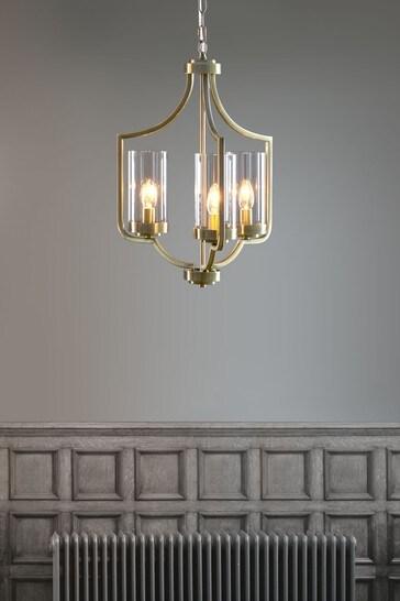Brass Joseph 3 Light Chandelier
