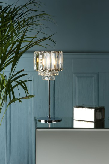 Chrome Vienna Crystal Table Lamp