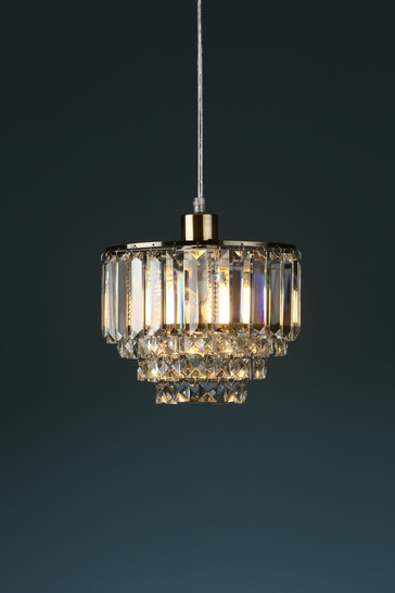 Brass Vienna Crystal Easy Fit Pendant
