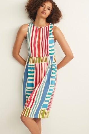 Multi Stripe Sleeveless Sun Dress