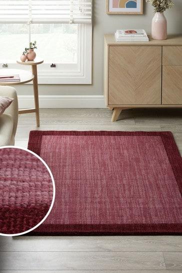 Deep Red Darcy Wool Rug