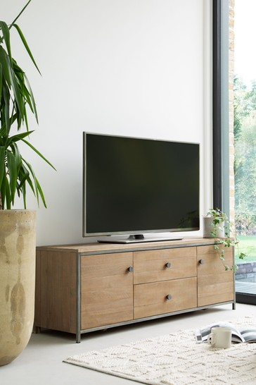 Hendrick Pine Wide TV Stand