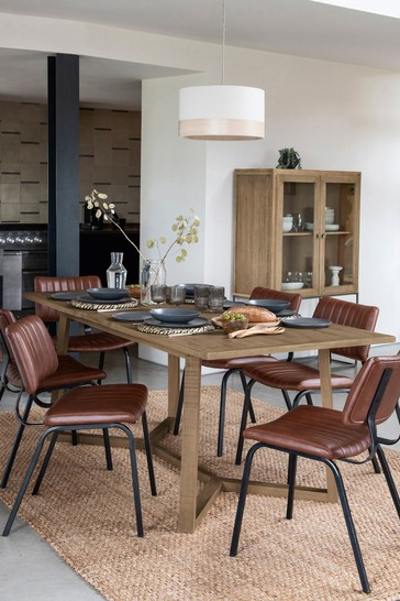 Hendrick Pine 6 to 8 Extending Dining Table