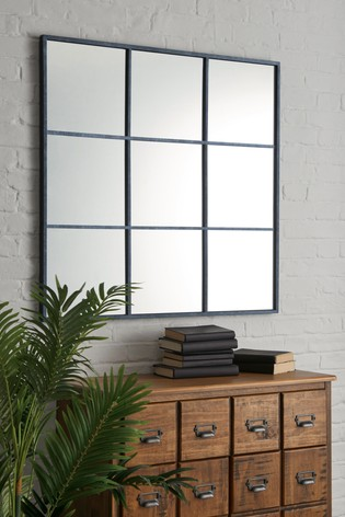 Metal Window Square Mirror
