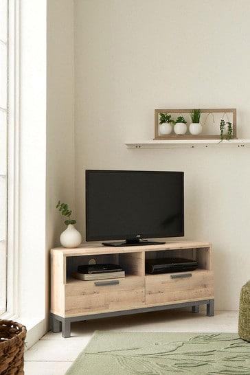 Bronx Oak Effect Corner TV Stand