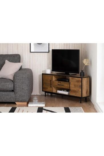 Jefferson Rustic Corner TV Stand