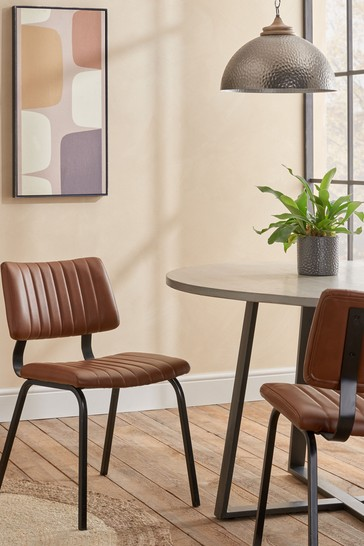 Set of 2 Aiden Dining Chairs With Black Legs