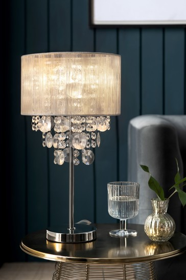 Champagne Palazzo Large Table Lamp, Chandelier Bedside Lamps Uk