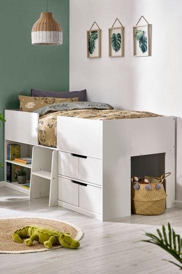 Compton White Storage Cabin Bed