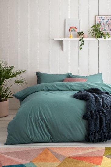 Marine Teal Cotton Rich Duvet Cover And Pillowcase Set