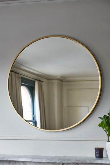 Large Round Mirror From The Next Uk, Large Gold Frame Circular Mirror