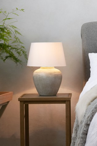 Grey Lydford Small Table Lamp