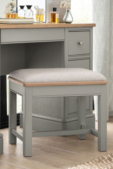 Hampton Country Luxe Painted Oak Stool