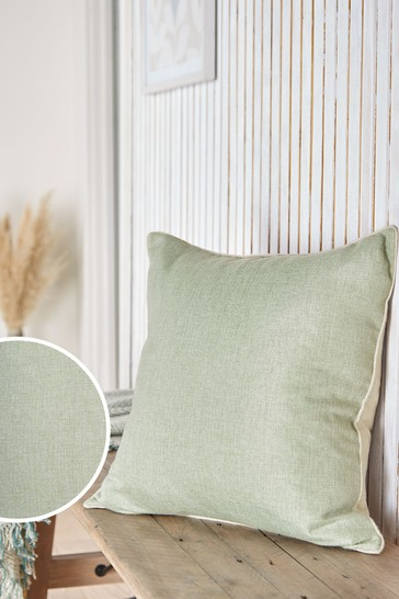 Sage Green Dalby Square Soft Textured Weave Cushion