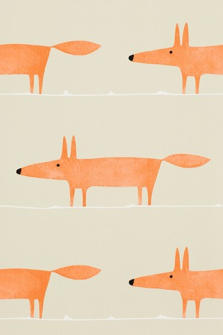 Scion Orange Mr Fox Wallpaper
